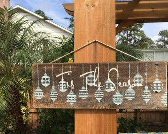 Tis The Season Reclaimed Wood Christmas Sign