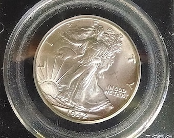 1942 Walking Liberty Half Dollar, PCGS MS 65, Collectible Uncirculated Certified Silver Coin