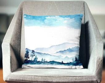 Mountain Pillow | Mountain Throw Pillow | Mountain Cushion | Mountain Pillowcase | Mountain Pillow Cover | Mountain Pillow Case