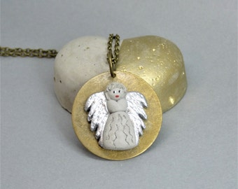 Angel Necklace Protection Angel-lucky charm-gift-