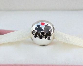 Disney MINNIE & MICKEY FOREVER Charm / New / s925 Sterling Silver / Threaded / Fully Stamped.