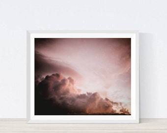 Sunset Sky Art, Sunset Photography, Cloud Photography, Sky Cloud, Sky Print, Sky Photography, Clouds, Art for Home, Modern Prints, Prints