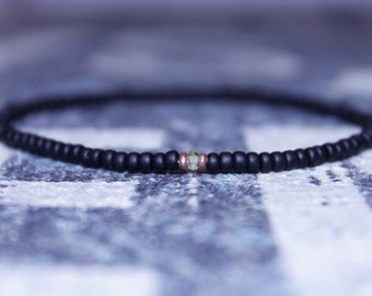 Mens Peridot Bracelet - Men's Anniversary Jewelry - Men's Bead Bracelets Gem