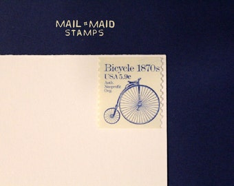 High-wheeler bicycle || Set of 10 unused vintage postage stamps