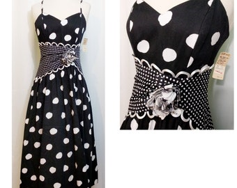 Special Times by Patty O'Neil Polka Dot Cotton Dress with Original Tags