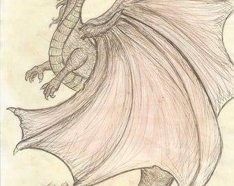 A Study in Dragons - art print