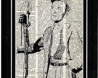 347 Frank Sinatra vintage dictionary art upcycle print