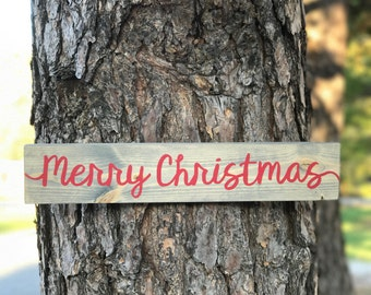Merry Christmas Wood Sign / Rustic Christmas Sign/ Merry Christmas Y'all / Farmhouse Christmas / Holiday Wood Sign / Vintage Christmas Sign
