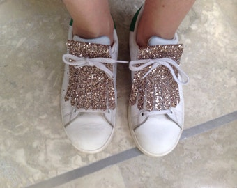Glitter POWDER for sneakers with laces leather fringes
