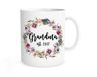Grandma Mug, New Grandma Mug, New Grandma Gift, Grandma Gift, Grandma Present, Grandma Coffee Mug, New Grandparent, Pregnancy Announcement