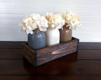 Wedding centerpiece, Mason Jar Centerpiece, Rustic Wedding Decor, Rustic Home Decor, Mason Jar Decor, Rustic Decor, wedding table decor
