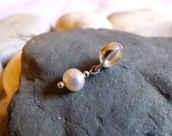 Freshwater Pearl, Freshwater Pearls, Freshwater Pearl Charm, Pearl Charm, Pearl Jewellery, Pearl Jewelry, Pearl Pendant - CZ16005