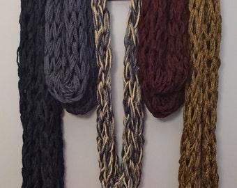 Chunky Arm Knit Infinity Scarf