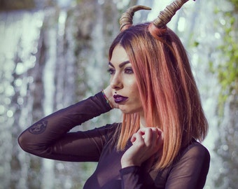 Demon/fantasy/faun horns headress