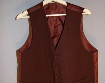 90s vest true vintage black purple M L reversible vest V-neck preppy classic