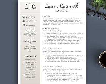 Creative Resume Template for Pages & MS Word. Complete 1,2,3 Pages Resume Template | Editable CV template. Professional Resume. Elegant CV.