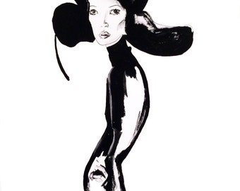 Kate Moss Illustration - Fine Art Print