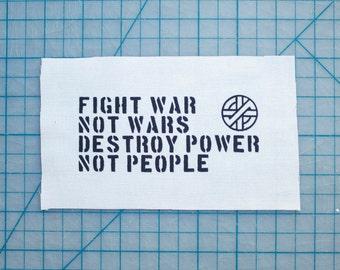 Fight War Not Wars (Crass) Patch