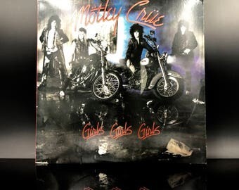 MOTLEY CRUE VINYL Record: Motley Crue - Girls, Girls, Girls - Hard Rock Heavy Metal Vinyl Record Lp - Great Gift!