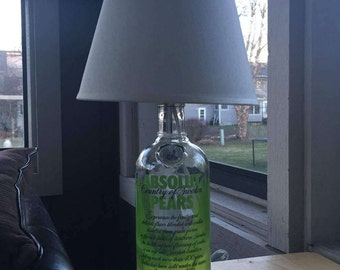 Absolut Pears Vodka Lamp (750ml Bottle)