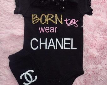 Born to wear Chanel Bodysuit Tshirt