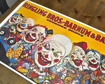 Ringling Brothers and Barnum and Bailey Circus Poster- Clowns