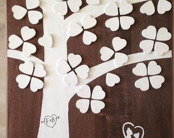 Wedding Guestbook Sweetheart Tree