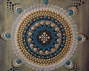 Mandala 3D pointillism