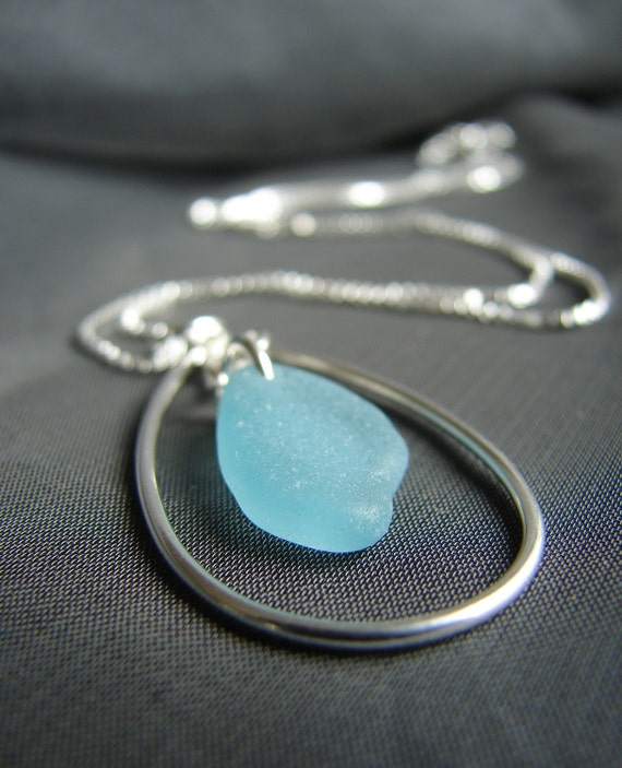 Sea Keeper sea glass necklace