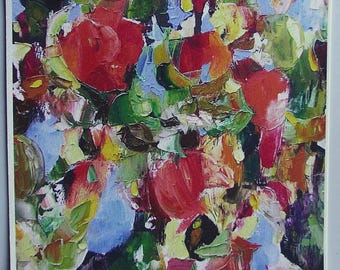 Fine art print, 'Apple Day' (large detail) from semi-abstract oil painting, A6 to A3 size