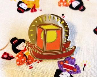 Tourou Nagashi lantern enamel pin