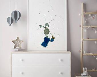 Girls room decor, Art for girls room, girls room art, art for kids room, girls wall decor, wall art for girls, dog wall art, dog wall decor