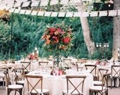 DOS PALOMAS personalized, custom color wedding papel picado -  sets of 2 banners