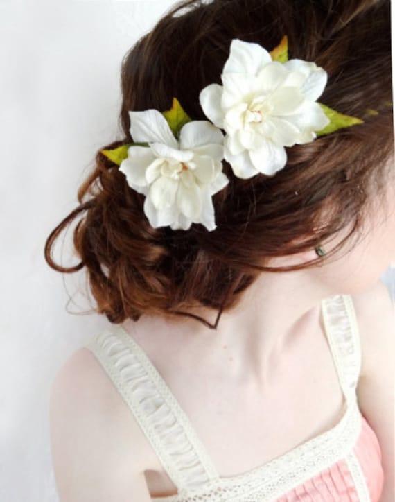 ivory flower hair pins, cream flower hair clips, rustic wedding bobby pins, cream hair piece, ivory bridal pins, ivory wedding accessory