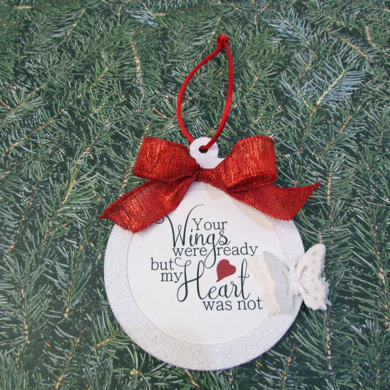 Personalized Memory Ornament Wings Were Ready But My Heart