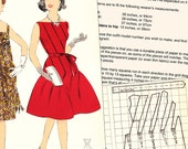 PDFs of vintage 60s sewing pattern system - 60 pages - instant download