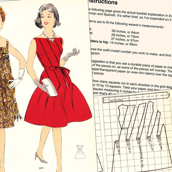 PDF of 60s fashions – pattern drafting system – Winter 1932 - instant download