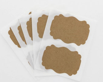 Kraft Sticker Labels Blank Custom Flourish