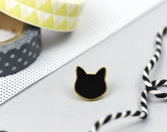 Little Black Cat enamel pin - black cat - hard enamel pin badges - perfect cat lovers gift - crazy cat lady - kitty pin