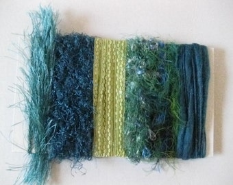 new Teal & Lime Art Fiber Bundle Card