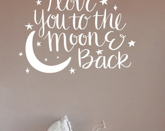I Love You To The Moon And Back Wall Art we love you to the moon and back wall decal i love u to the