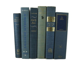 Books Blue, Blue Green Decorative Books,  Blue Vintage Books,  Photo Props, Table Setting, Centerpieces, Wedding Decor , Hostess Gifts