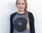 Texas Shirt, SMALL, Tree Ring Print, Texas Pride