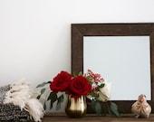 Rustic Wall Mirror - Small Wall Mirror - 16 x 16 Mirror - Rustic Mirror - Reclaimed Wood Mirror - Decorative Mirror - Farmhouse
