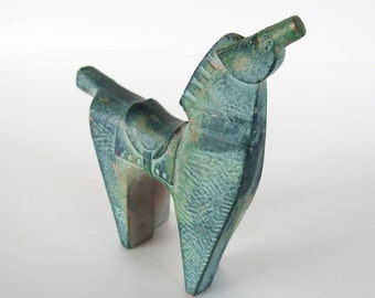Metal Sculpture of a Horse. MCM Japanese. Horse Sculpture. Vintage Japanese. Sculpture. Carving. Casting. Modern Art. Decorative. Japan.