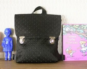 Black Bag, Backpack, Fabric Bag, Ipad Bag, Laptop bag, Book Bag, Eco Backpack, Hipster bag, Laptop Backpack, Vegan Bag, Neoprene Bag