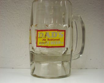 DAD'S ROOT BEER Mug Old Fashioned Float Heavy Drink Glass Ice Cream