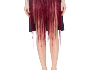 1990s Judith Hugener Avant Guarde Hair Skirt Size: 6