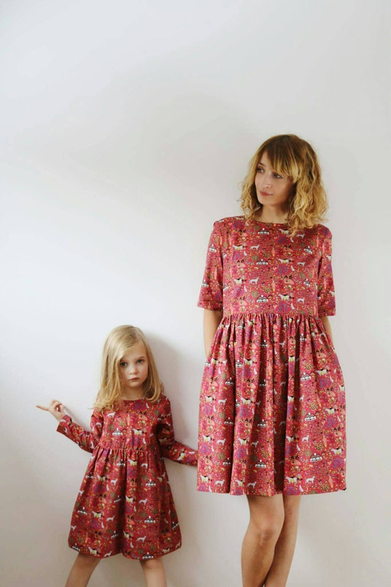 matching mommy and me dresses funny print dresses