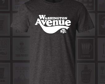 Washington Ave T-Shirt - STL City Shirt from Benton Park Prints, Wash Ave, Washington Avenue, St. Louis, Saint Louis, St Louis Shirt